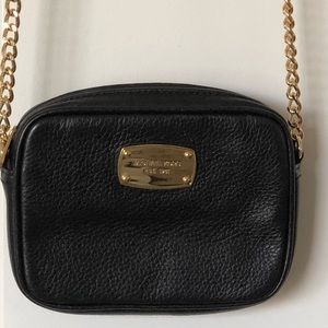 Michael Kors black square crossbody handbag